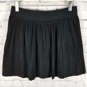 BCBGMAXAZRIA   Kaysa faux suede pleat mini skirt